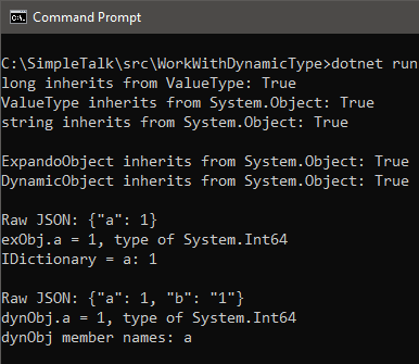 dynamic type results