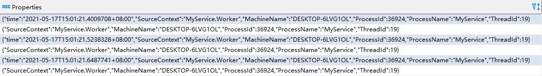 Serilog SQLite table properties
