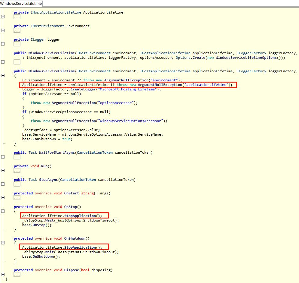 WindowsServiceLifetime Class